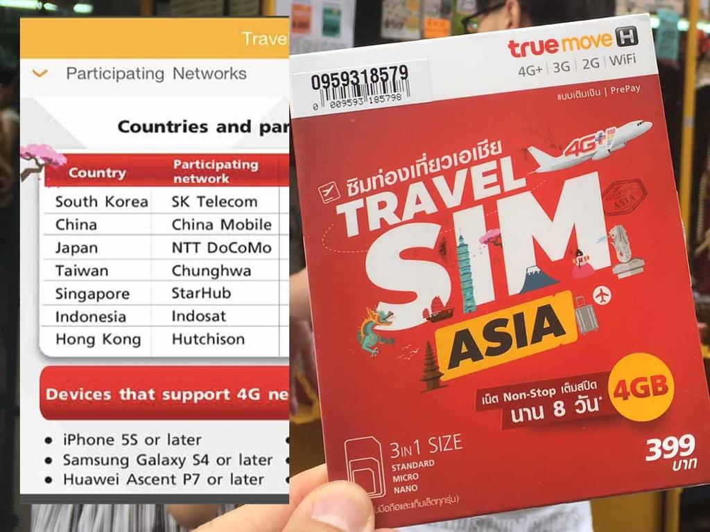 TrueMove H 亞洲多國漫遊卡 HK$100 4GB 包中日韓強戰 AIS Sim2Fly - ezone.hk - 網絡生活 - 旅遊筍料