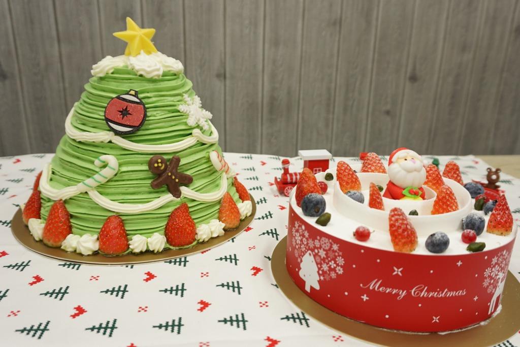 聖誕蛋糕新登場 巨型3D聖誕樹抹茶蛋糕+聖誕老人蛋糕
