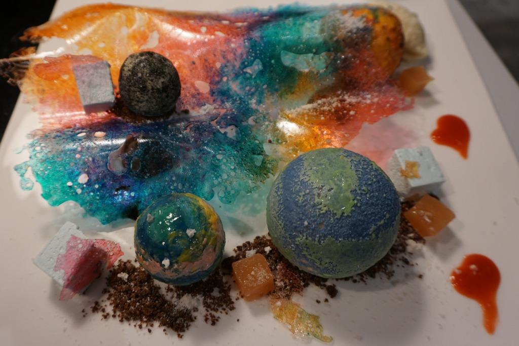 情人節限定星球甜品 好立克味月球+焦糖味火星