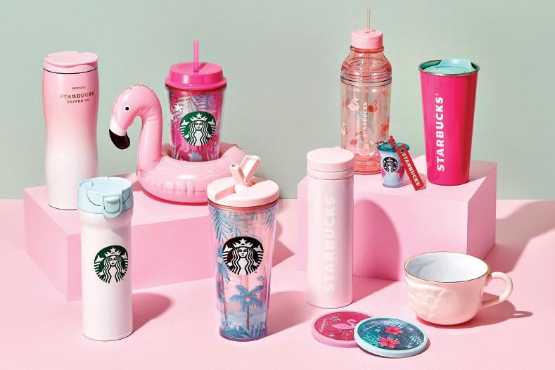 韓國Starbucks杯新系列登場 紅鶴/陽光與海灘主題