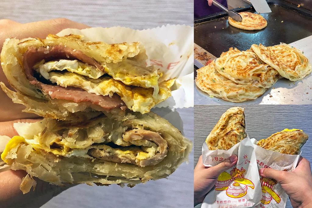 台灣掃街小食 酥香厚實足料蔥抓餅
