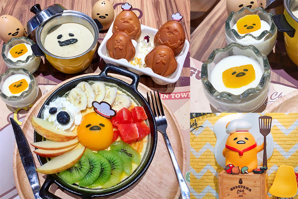 【台灣Cafe】蛋黃哥主題餐廳進駐台灣 食物造型搞鬼可愛