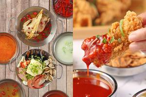 韓式素食肉食雙放題!青衣食混醬炸雞+部隊鍋/素食自助餐