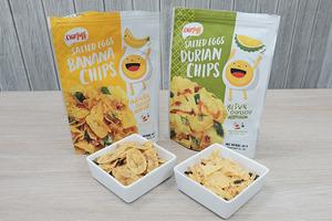 觀塘零食店零食到家 Snacks To Home新推出泰國零食,有鹹蛋榴槤片和鹹蛋香蕉片,口味趣怪新奇,喜歡新鮮感的朋友可以試試~