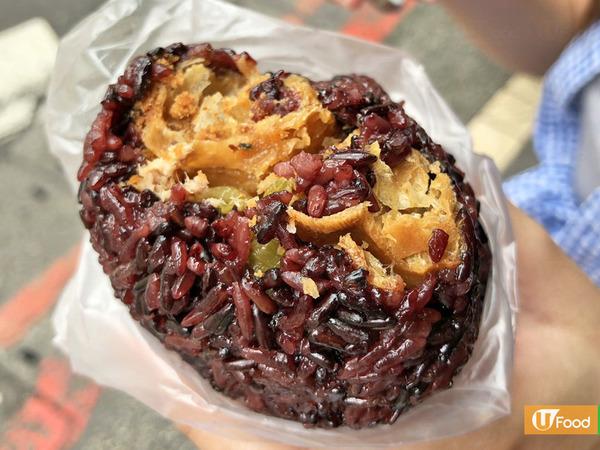 台北早餐推介2018可試試劉家飯糰的紫米飯糰。