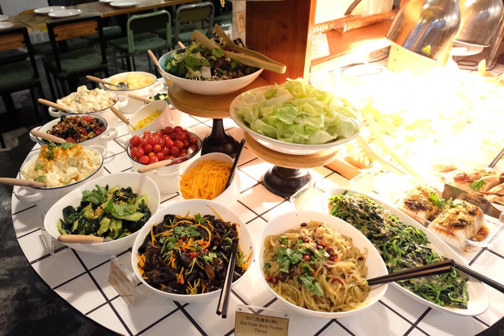 【走肉朋友】人氣素食自助餐「夠薑」主題素食 香檸薑汁伴鯉魚/沙薑油素雞