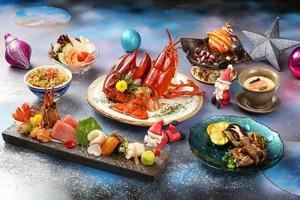 沙田酒店聖誕節鐵板燒餐:A5鹿兒島和牛/星際主題甜品