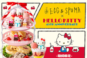 日本東京新宿Cafe「EGG & SPUMA」開設期間限定的Hello Kitty Cafe,Hello Kitty迷可以去丈朝聖打卡!