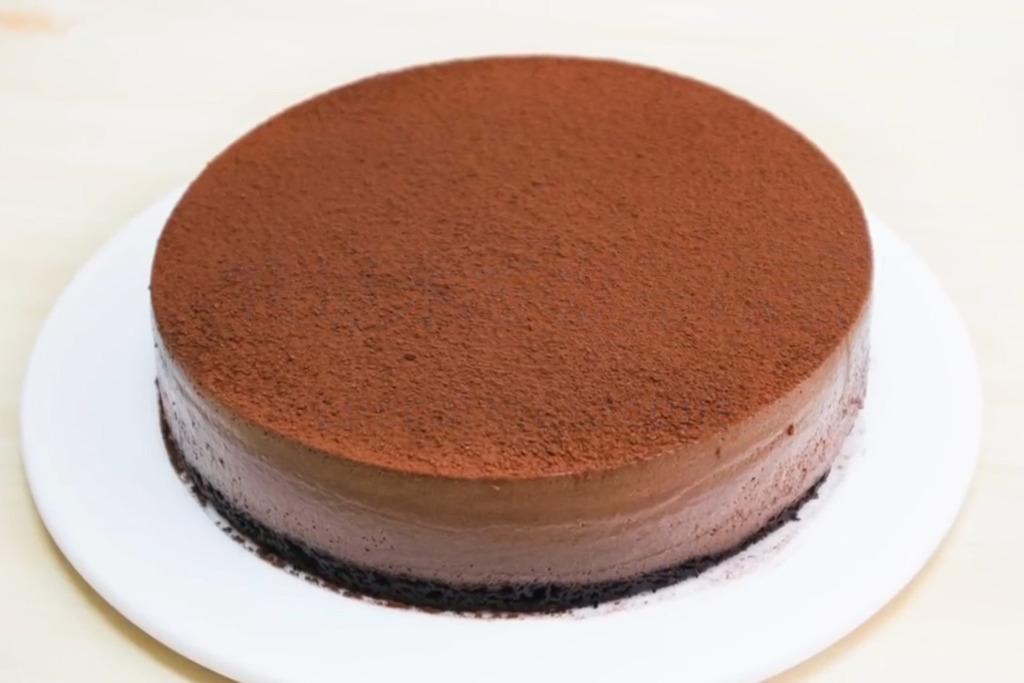 【免焗蛋糕】新手都做到!超簡易免焗食譜  特濃朱古力慕絲蛋糕