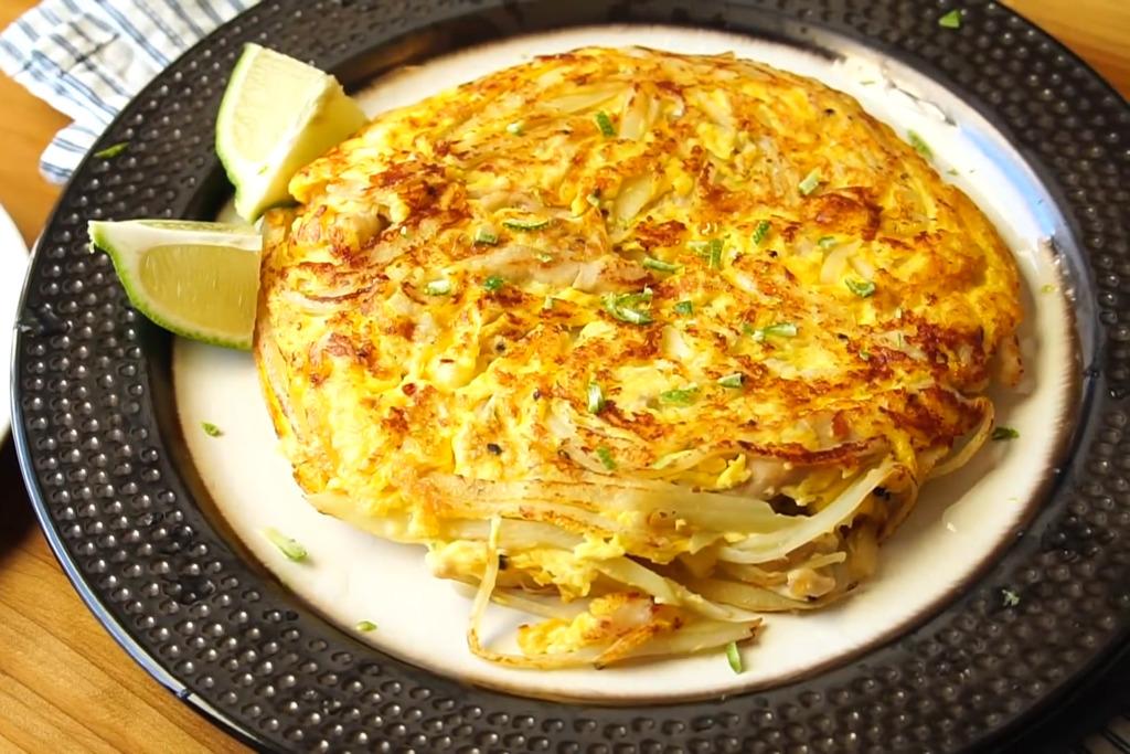 【減肥食譜】4步完成高蛋白減肥料理 口感結實雞絲馬鈴薯煎蛋餅