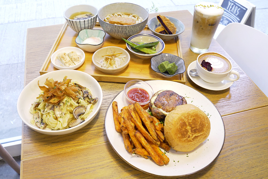 【深水埗美食】深水埗新開小清新素食Cafe「素年」 日式定食/大啡菇漢堡/野果多士
