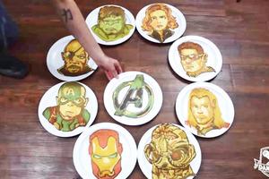 【復仇者聯盟4】Marvel迷注意!Pancake神手單手畫出  《復仇者聯盟Avengers》8大英雄人物