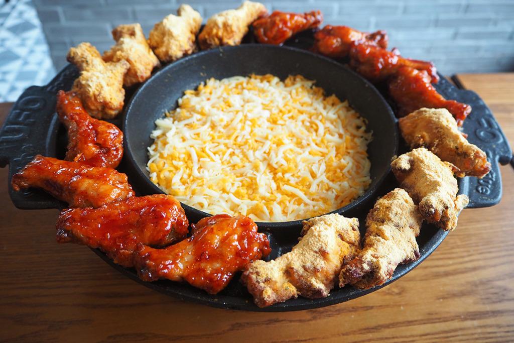 【炸雞香港】韓國菜餐廳Goobne Chicken新推出三重芝士火鍋烤雞 超澎湃芝士瀑布拉絲芝士烤雞!